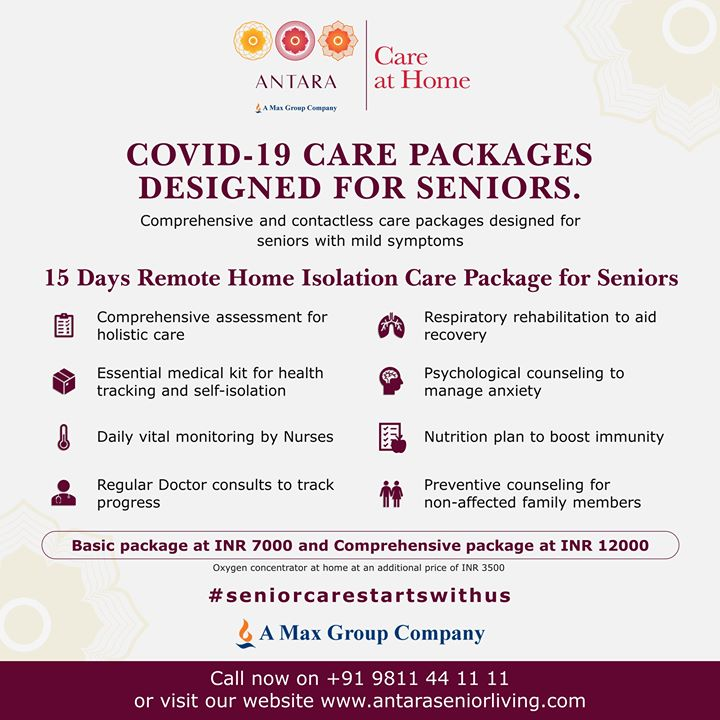 Antara Launches COVID Care at Home Services for Seniors in Delhi NCR - The Indian Practitioner